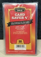 50 Ct Card Saver 4 Cardboard Gold PSA Graded Semi Rigid Holders CS IV