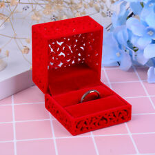 Red Hollow out romantic Engagement Wedding Ring Box Wedding Gift Favor FG