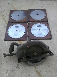"""12"""" Inch Mall Saw Pneumatic Air Circular Skil Saw P128 with 4 New Blades Beam"""