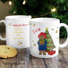 Paddington Bear Personalised Christmas Tree Mug - Boys or Girls Add Name Message