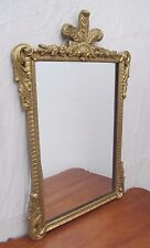 EARLY 19TH CENTURY SHERATON GILDED PRINCE OF WHALES MIRROR