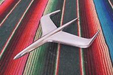 1950's Ford Mercury Chrome Airplane Hood Ornament Emblem Rocket Mascot Art Deco