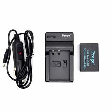 LP-E17 Battery + Home/Car Charger for Canon T6i, T6s, M3, 750D, 760D Kiss X8i