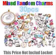 30pcs/lot Cute Mix design assorted floating charms for living glass locket Gift