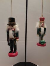 Mini Nutcrackers Christmas Ornament lot of 2