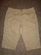 EUC Adidas Women's Capri Pants, Sz 8, Flat Front, Beige 9235