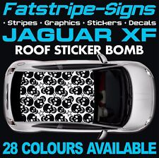JAGUAR XF GRAPHICS ROOF STICKER BOMB STRIPES DECALS V6 V8 2.0 2.2 2.7 3.0 TD