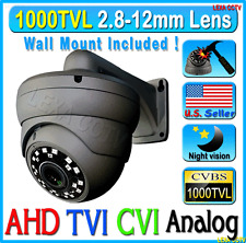 "1000TVL Camera 1/3"" SONY 1.3 MP 720P Lens 2.8~12mm Vari-focal U.S Wall mount"