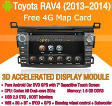 Android In Dash Car DVD Radio GPS Navigation WIFI 3G for Toyota RAV4 2013 2014