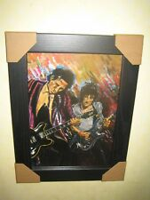 Ronnie Wood {Rolling Stones} A4 Art Print Framed - The Famous Flames Collection