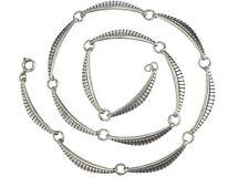 Art Deco Damen 835 Silber Glieder Halskette Collier 44,5 cm