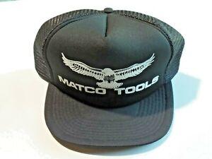 Vtg. Trucker Cap Hat MATCO TOOLS Mesh Snap Back Black Adjustable