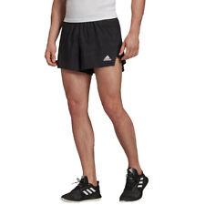 adidas Mens Speed Split Shorts Pants Trousers Bottoms - Black Sports Running