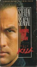 Steven Segal Twin pack-_Hard To Die/Above the Law (Vhs) Pam Grier