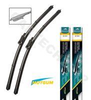 "BMW 5 Series E60/61 2003-2010 Front Aero Flat Windscreen Wiper Blades 24""23"" (C)"