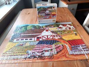 AMERICAN FOLK ART 750 PIECE JIGSAW PUZZLE BY CINDY MANGUTZ 'FRESH FLOWERS'