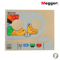 Megger Multifunction Tester spare / replacement label set for MFT1710 1002-724