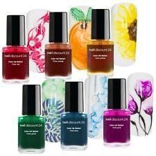 Ink Color XXL SPAR SET Rainbow NailArt Farbe Tinte 72ml Polish Blooming Marmor