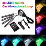 4× LED RGB Voiture Ambiance Intérieure Bande Lumières À Distance Footwell Lampes