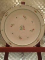 Noritake Ivory China Brittany #7195 Multi- Colored Flowers .Silver Edging.