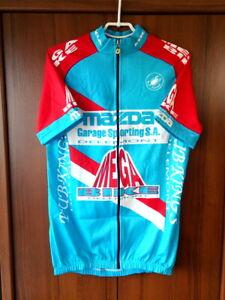 Mazda Mega Bike Delemont Team Castelli Cycling Jersey Full zip Vintage size XXL