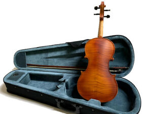 VIOLINS-BANKRUPTCY-NEW ADULT FULL SIZE 4/4 FLAMED SOLID VIOLIN/FIDDLE-GERMAN