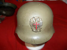 Original Ww2 Era Spanish M42 Helmet W/ Emblem Early Liner rare antique