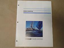 Kohler Power Systems Marine Generators Feature Book OEM Boat