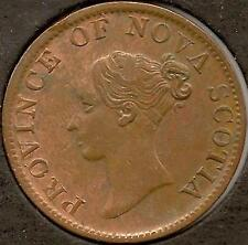 1840 Canada Token, Nova Scotia Victoria, AU, cleaned