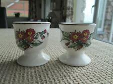 VILLEROY & BOCH 2  FLORAL FOOTED EGG CUPS