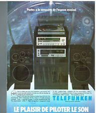Publicité Advertising 1978 La Chaine Hi-fi Telefunken