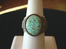 NEW NATIVE AMERICAN # 8 TURQUOISE  RING BY NAVAJO TEME SIZE 10