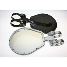 "Axia Alloys Aluminum Round 5/"" Side Mirror /& Clamp Polaris Yamaha Kawasaki Honda"