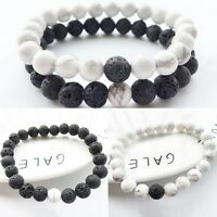 Couples His & Hers Distance Bracelet Lava Bead Matching YinYang Anniversary Hot