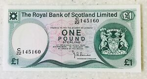 Uncirculated 1981 Royal Bank of Scotland £1 note
