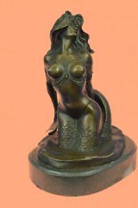 Cool Nauticals Hot Tropical Large Size Figure Head Mermaid Verde Bronze Nude