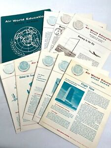 1957 TWA TRANS WORLD AIRLINES vintage flight study packet LESSONS & INSTRUCTION