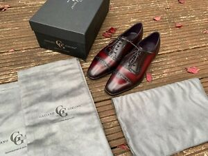 Gaziano & Girling ST James Margaux Patina Burgundy Oxford 7 E TG73 Shoes