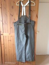 "German Army Waterproof Bib and Brace (original) Goretex 34/36"" waist NEW"