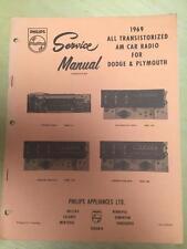 Philips Service Manual for 1969 Dodge Dart Polara Fury 2864 513 2884 128 103 285