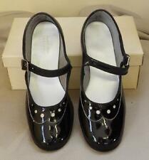 BLACK PATENT WHITE DOT EYELETS GIRLS MARY JANE EASTER 5015 DRESS SHOES USA 2