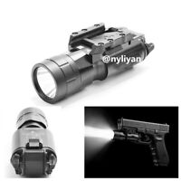 Tactical Ultra Bright LED FlashLight 20mm Picatinny Rail Torch for Pistol Rifle