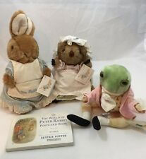 Beatrix Potter Eden Collection Plush The World of Peter Rabbit Post Cards 1989