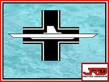 10th Flotilla Emblem Vinyl Sticker in Black and White