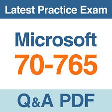 Microsoft Practice Test 70-765 Provisioning SQL Databases Exam Q&A PDF