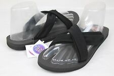 SANUK YOGA X-HALE STRETCH KNIT SANDALS BLACK SIZE 9 US