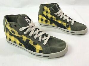 Puma Loader High Checker Casual Shoes 350124 Plaid Pattern US 9 UK 8 EU 42