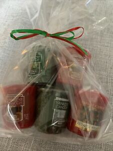 5pc Yankee Candle Christmas Scents Votive Assorted Gift Bag #1  New Ships Free