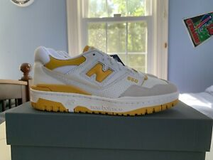 IN HAND New Balance 550 Sea Salt Varsity Gold Yellow Men's Size 8 US BRAND NEW