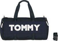 TOMMY HILFIGER Tommy Nylon Duffle Sporttasche Tasche Tommy Navy Blau Weiß Neu